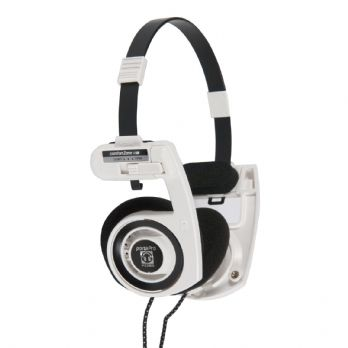 Koss Portapro On Ear High Quality Portable Stereo Headphones White